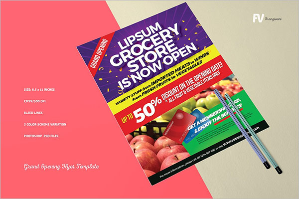 Grocery Promotional Flyer Template