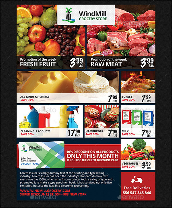 Grocery Store Promotions Flyer Template