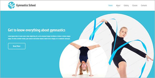 Gymnastics School Website Template