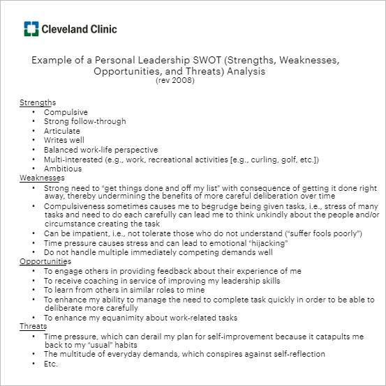 HR SWOT Analysis Template