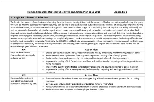 HR Selection Strategy Template