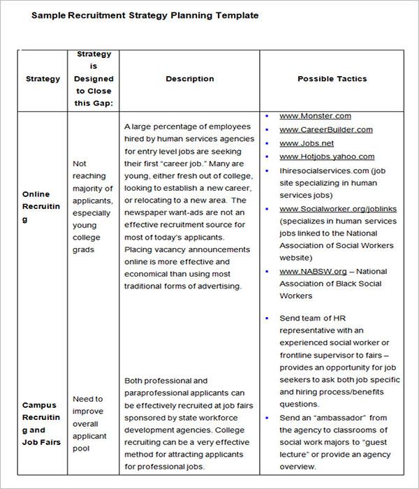 HR Strategy Sheet Template