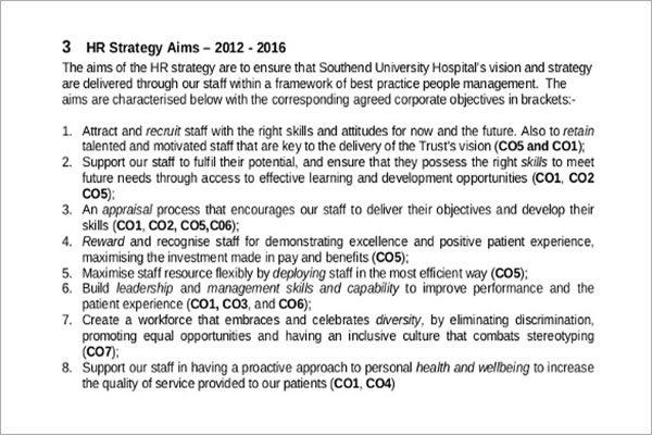 HR Strategy Template DOC
