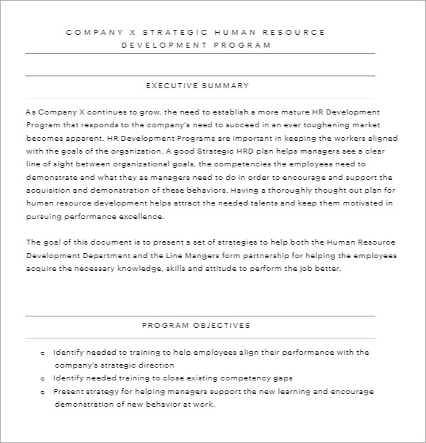 HR Strategy Template