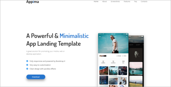 HTML Mobile Bootstrap Template