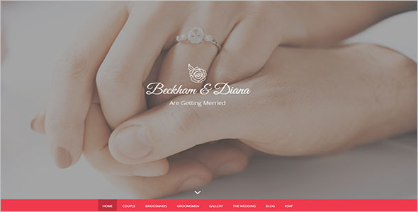 HTML Wedding Landing Page Template