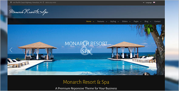 HTML5 Resort Website Template