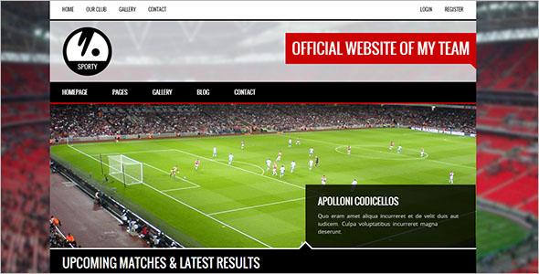 HTML5 Website Template for Baseball