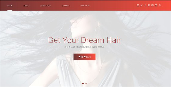 Hair Design Website Template