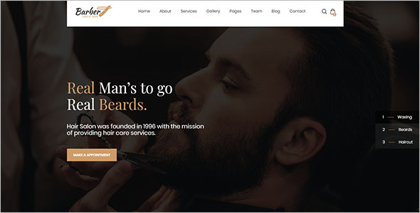 Hair Salon HTML5 Template