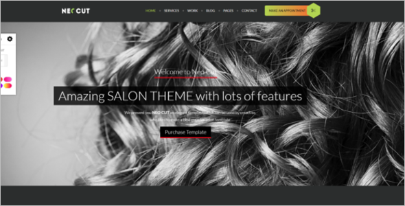 Hair Style Salon HTML5 Template