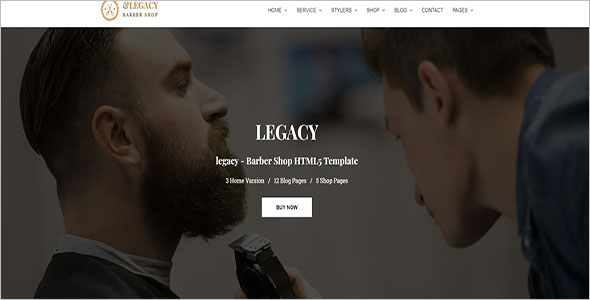 Hairdressing HTML Website Template