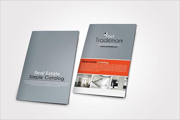 Half Fold Brochure Catalog Template