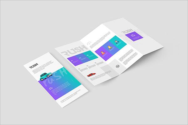 Half Fold Brochure Mockup PSD