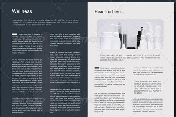 Half Fold Brochure PSD Template