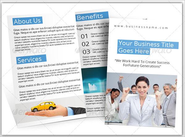Half Fold Brochure Template InDesign