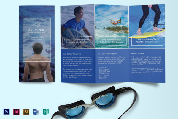 Half Fold Brochure Template MS Word