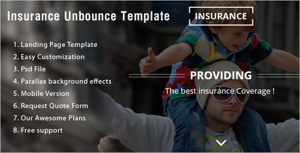 Health Insurance Landing Page Template