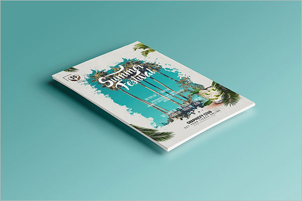 High Definition Beach Party Flyer Template