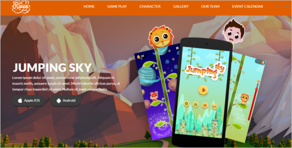 High Quality Gaming Landing Page Template