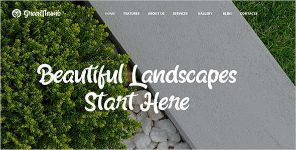 High Quality Landscaping WordPress Theme