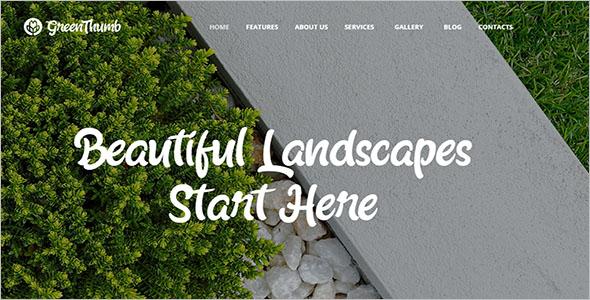 High Quality Landscaping WordPress Theme