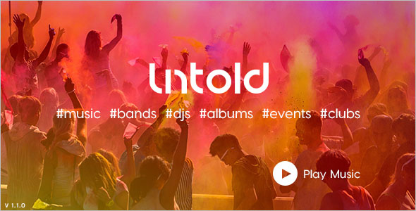 High-Quality Music Bootstrap Template
