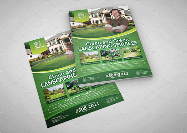 High Resolution Lawn Care Flyer Template