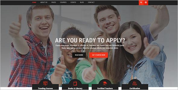 High School Website Template