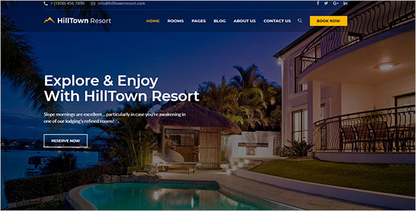 Hilltown Resort Website Template