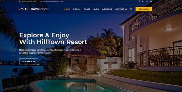 Hilltown Resort Website Template