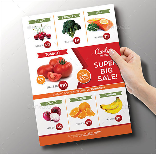 Holding Grocery Flyer Template