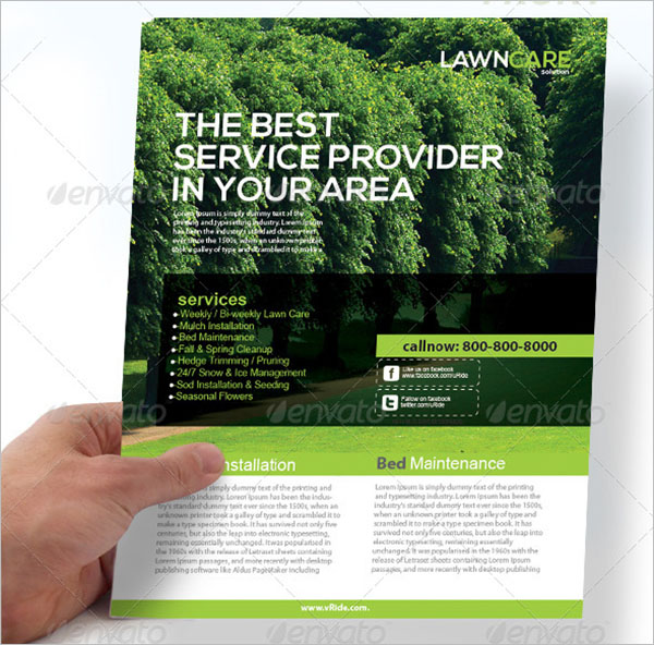 Holding Lawn Care Flyer Template