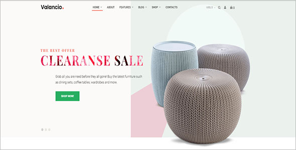 Home Decor Woocommerce Template