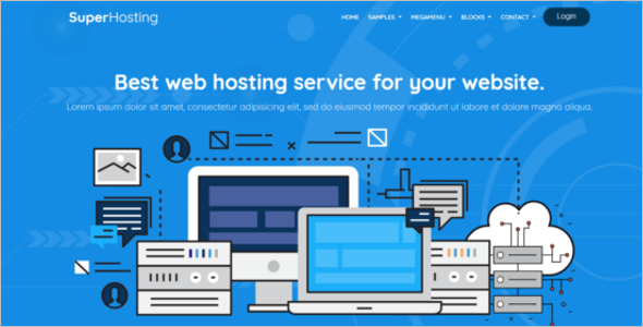 Hosting Bootstrap Template