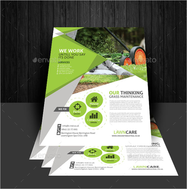 Illustration Lawn Care Flyer Template