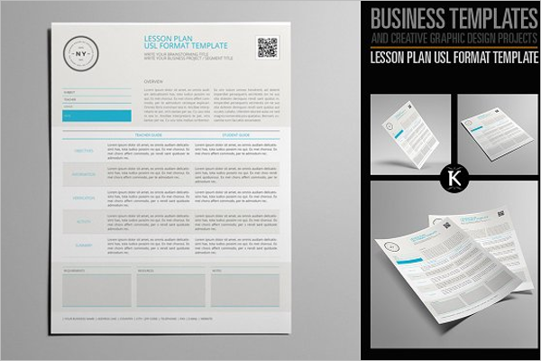 InDesign Lesson Plan Template