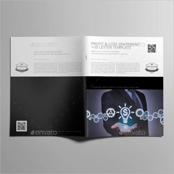 InDesign Profit & Loss Statement Template
