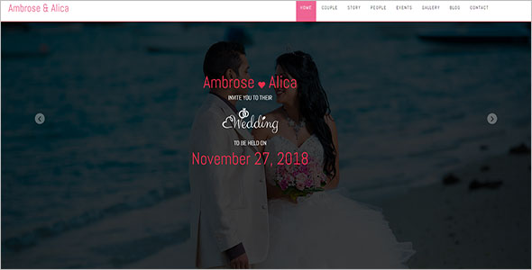 Indian Wedding Bootstrap Template