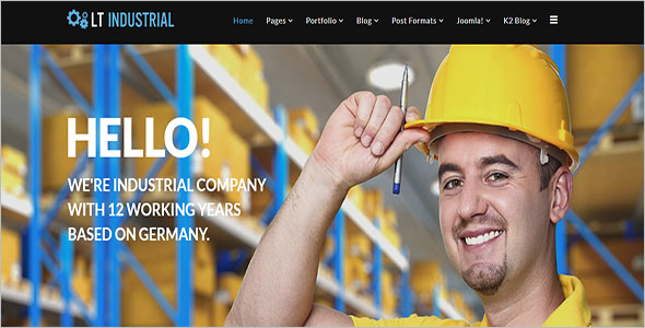 Industrial Business Joomla Theme