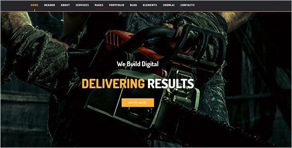 Industrial Joomla Theme