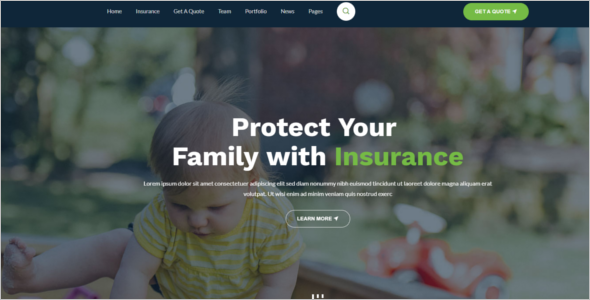 Insurance Agency Bootstrap Template