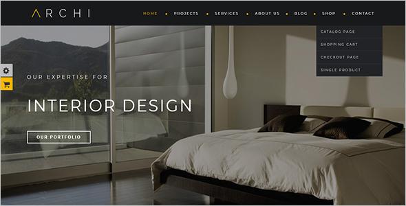 Interior Design Woocommerce Template