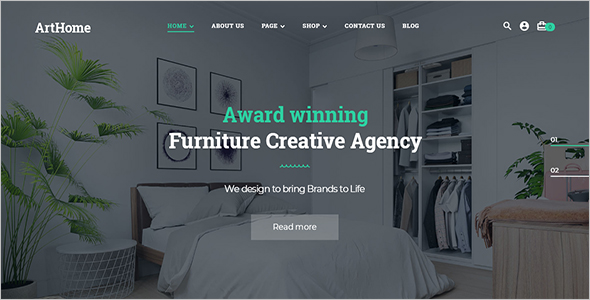 Interior Shop Woocommerce Template