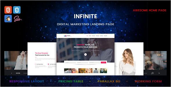Internet Marketing Landing Page Template