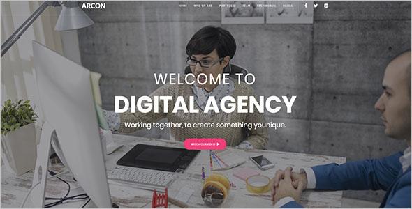 Internet Marketing Landing Page Website Template
