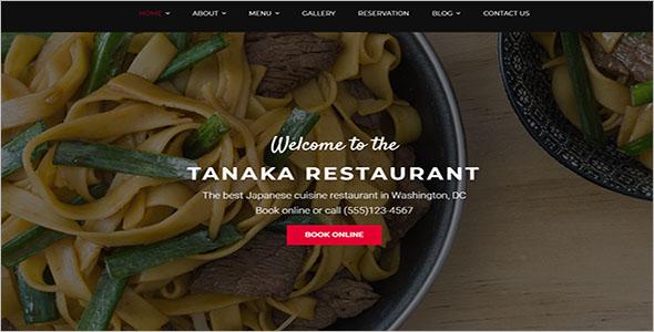 Japanese Food WordPress Theme