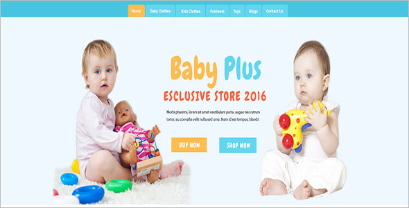Kids Fashion Open Cart Template