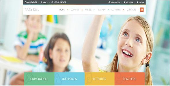 Kids School Website Template