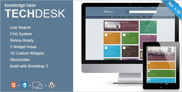 Knowledge Base Desk WordPress Theme